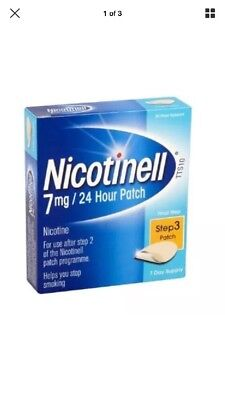 Nicotinell Step 3 7Mg 24 Hour Patch 7 Patches 6/2019