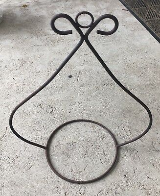 Vintage Wrought Iron Plant Hanger Hanging Garden Basket Pot Holders