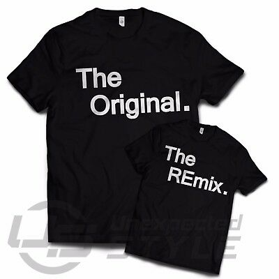 The Original The Remix Paired T-shirts Cool dad son father swag retro T shirt