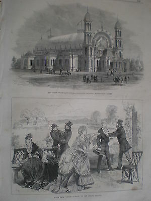 New South Wales & Victoria Exhibition building Alfred Park Sydney Australia 1870
