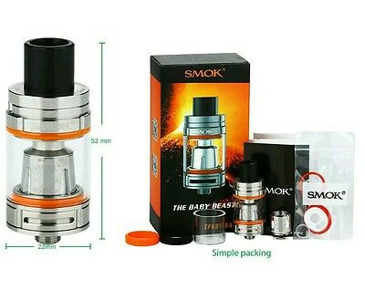 SMOK TFV8 Baby Beast 3ml Atomiseur Clearomiseur Tank  Silver 100% AUTHENTIQUE