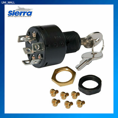 Sierra Marine New MP41000 PUSH-TO-CHOKE 3 Position Ignition Switch for Boats