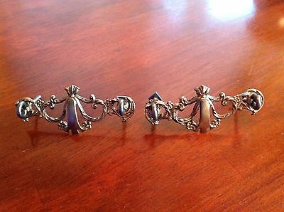 Vintage Drawer Pulls Victorian Style Two Of Them