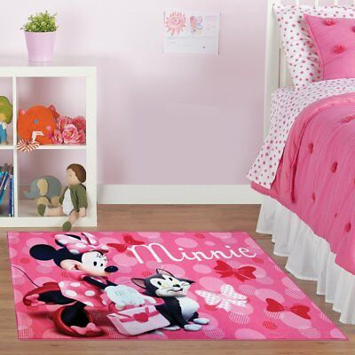 Home Kids Children Toy Room Decor Disney Minnie Mouse Rug figaro Cat HD Digital