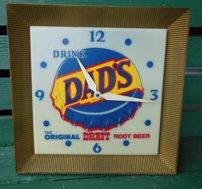 1950's Dad's Root Beer Shop Lighted Clock Advertising Sign General Store