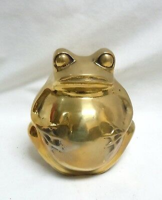 Frog Froggy Bank, Brass Piggy Bank, Made from Cast Brass, Made in South Korea