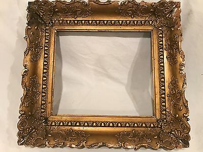 Antique 19th Century 14x12 Ornate Gold Gilded Picture Frame