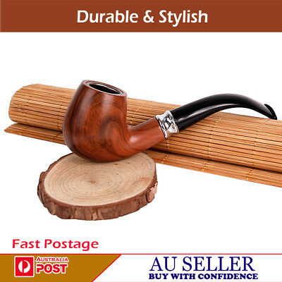 High Quality Stylish Durable Ring Tobacco Smoking Smoke Wooden Look Pipe   ***au
