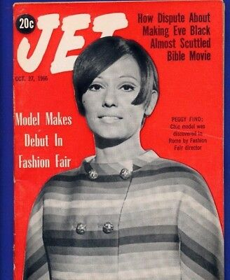 JET MAGAZINE 10/27/1966 BIBLE MOVIE SCUTTLED WITH Black EVE Peggy Ford model