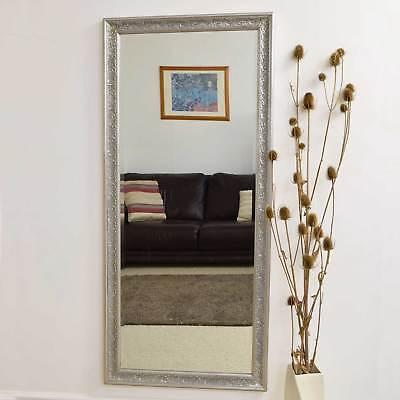 Large Antique Design Full Length Silver Wall Mirror 5ft3 x 2ft5 160cm x 73cm New