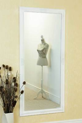 Large White Full Length Wall Mounted Mirror 5ft3 x 2ft5 160cm x 73cm