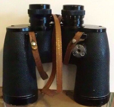 Binoculars Sears 6282 Extra Wide Lens 10 x 50 Coated Optics Leather Case