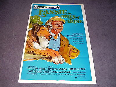 LASSIE in HILLS OF HOME original movie poster  EDMUND GWENN   JANET LEIGH 1972