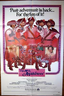 1979 THE 5TH MUSKETEER ~ SWORD FIGHT !~Strangled~MOVIE POSTER 1 SH OR