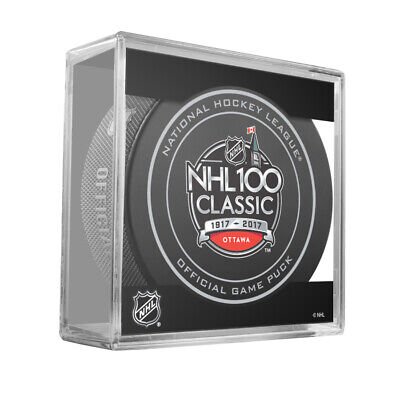 2017 NHL 100 Classic Montreal Canadiens Ottawa Senators Official Game Puck  Cubed efd15ba28