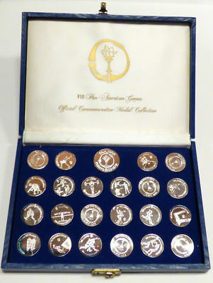 1979 VIII Pan-American Games Official Commemorative Silver Medal Collection