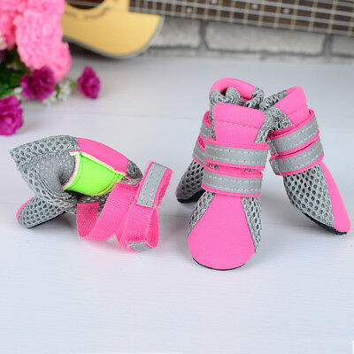 KQ_ Breathable Mesh Pet Shoes Non-slip Sole Paw Protector Dog Boots Gift Reliabl