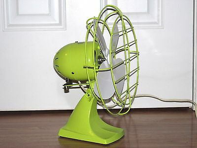 Vtg Oscillating Electric Fan Montgomery Ward Refurbished Custom Paint