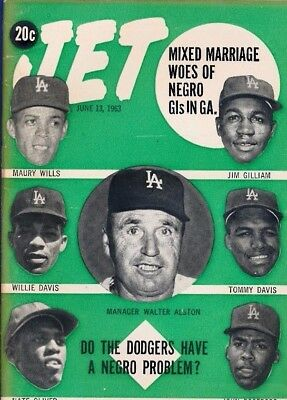 JET MAGAZINE 6/13/1963 LA Dodgers GILLIAM DAVIS WILLS Roseboro Black problem