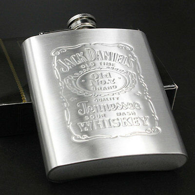 7 oz Stainless Steel Hip Liquor Whiskey Alcohol Pocket Flask with Portable  New.