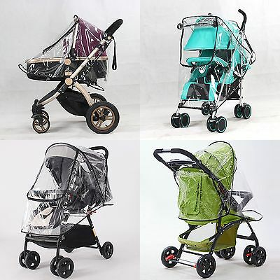 Baby Car Universal Waterproof Baby Stroller Rain Cover Raincover Buggy  New.