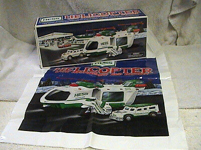 2001 Toy Helicopter With Motorcycle&cruiser  .maybe Krinkle Bag/yellow Door