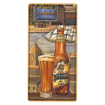 Beer Glass and Bottle Metal Wall Sign Retro Tin Steel Plaque Bar Man Cave