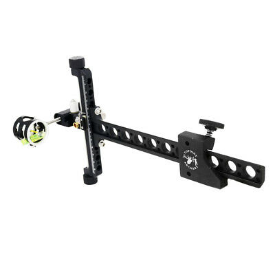 1-Pin CNC Archery Match Compound Bow Sight with Micro Adjustable Long Pole