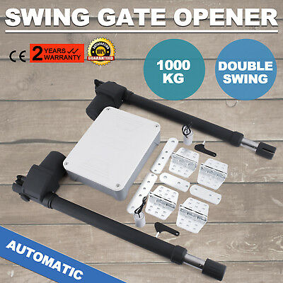 Dual Swing Gate Opener 1000KG Scalable 24V DC 2200lbs Double Actuator WHOLESALE