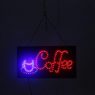 Coffee Club Outdoor LED Open Sign Square Hang Waterproof On/Off Switch