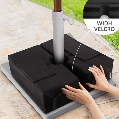 Weight Sand Bag For Umbrella Base Stand 2 DETACHABLE Bags Square Outdoor Patio