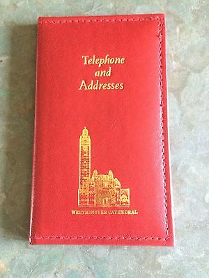 Westminster Cathedral Address Book