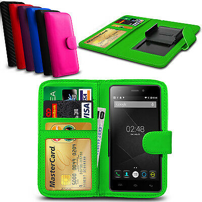 Clip On PU Leather Flip Wallet Book Case Cover For Doogee F2