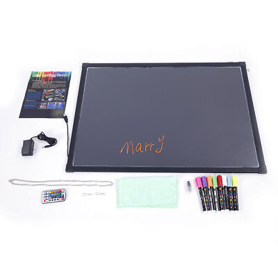 """32""""x24"""" Erasable Neon LED Message Menu Sign Writing Board with 8pcs Highlighters"""