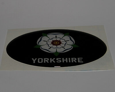 Black Yorkshire Dome Car Badge Oval Sticker in Black - Be Proud