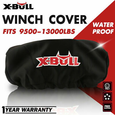 X-BULL Waterproof Soft Winch Cover fits 9,500-13,000LBS  Winch Dust Cover