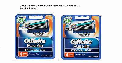Gillette Flexball Fusion ProGlide Razor Manual Shaving Blades - 8 Cartridges New