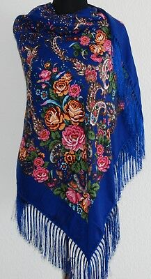 Floral Russian fashion Slavonic style shawl scarf  with defect. SALE 50%!!!
