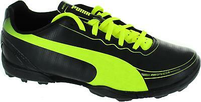 ce18b828d8 Puma Evospeed 5.2 Tt Jr Older Kids Black Lace Up Astroturf Football Boots  New