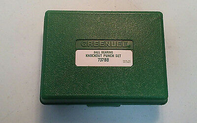 (F) Greenlee Model 737Bb Ball Bearing Knockout Punch Set (T-13492)