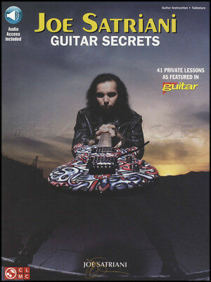 Joe Satriani Guitar Secrets TAB Book & Audio 41 Guitar Magazine Private Lessons