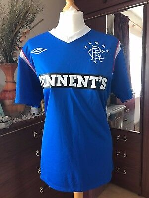 Mens Glasgow Rangers Home Football Shirt 2011/2012 Blue Umbro UK Size Medium / M