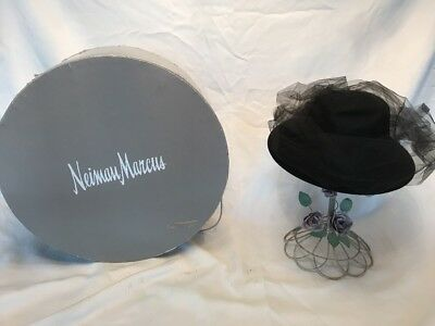 Vintage Frank Olive Neiman Marcus Hat With Box