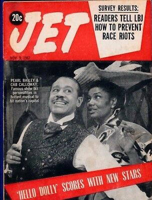 11/9/1967 Jet Magazine Pearl Bailey Cab Calloway HELLO DOLLY prevent race riots