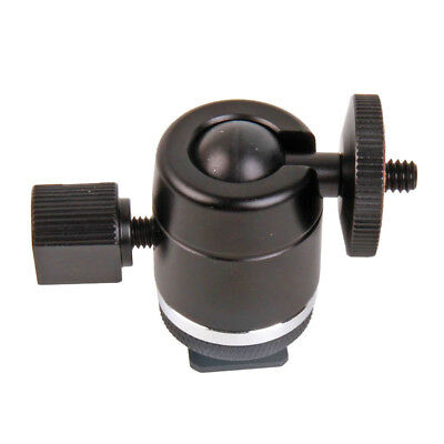 "Mini 360° Ball Head Holder 1/4"" to 3/8"" Screw Thread Mount for Camera Tripod"