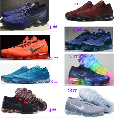 New Men's 2018 Air Max Genuine Vapormax Flyknit Multicolor Trainer Sneaker Shoes