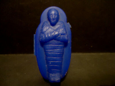 Topps Mummy Plastic Candy Chewing Gum Container Blue Monster Vintage