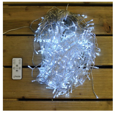 Premier Decorations Remote Controlled 480 LED White Nite Lights Snowing Icicles