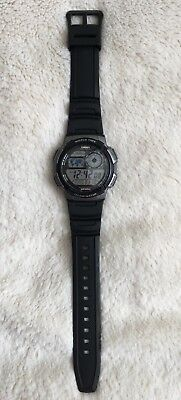 Casio AE1000W-1BV Digital Map Watch 10 Year Battery World Time 5 Alarms
