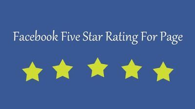 350 Facebook five 5 star rating and review on your fan page all rating from USA